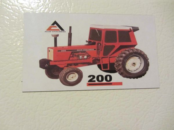 ALLIS CHALMERS 200 W/CAB Fridge/toolbox magnet