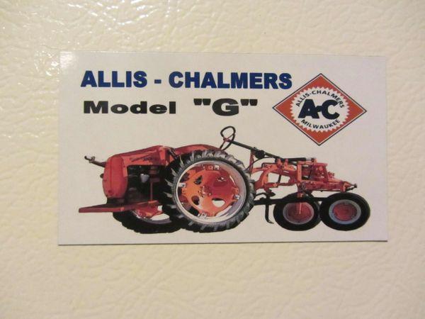 ALLIS CHALMERS G Fridge/toolbox magnet