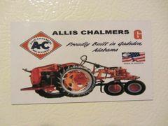 "ALLIS CHALMERS G ""PROUDLY BUILT IN GADSDEN ALABAMA"" Fridge/toolbox magnet"