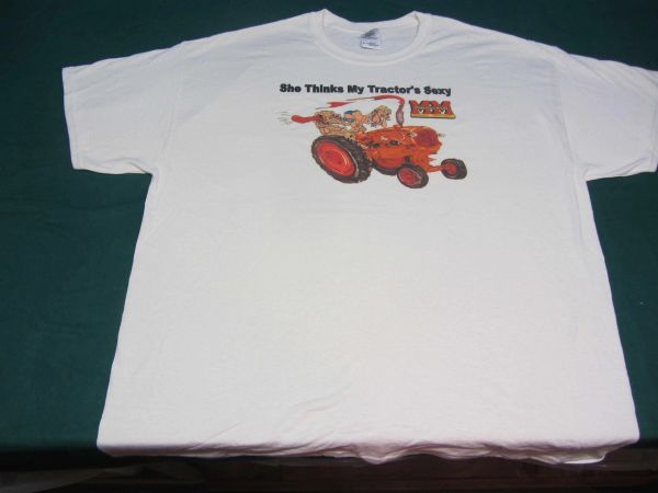 """MINNEAPOLIS MOLINE """"SHE THINKS MY TRACTOR'S SEXY"""" Tractor tee shirt #1"""