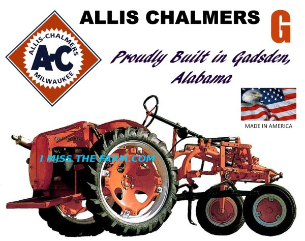 ALLIS CHALMERS G (Proudly built in Gadsden AL) TRACTOR SWEATSHIRT