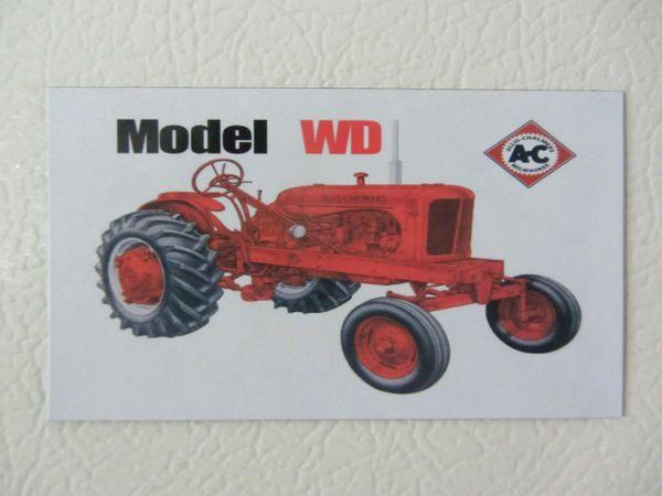 ALLIS CHALMERS WD WF Fridge/toolbox magnet