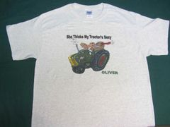 """OLIVER """"SHE THINKS MY TRACTOR'S SEXY"""" TEE SHIRT"""
