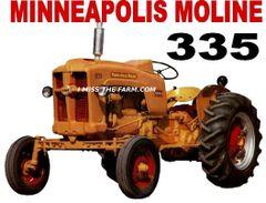 MINNEAPOLIS MOLINE 335 HOODED SWEATSHIRT