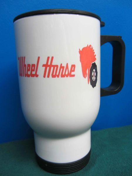 WHEEL HORSE LOGO (Red Text) TRAVEL MUG