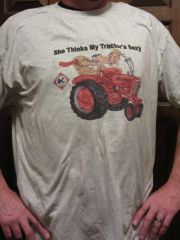 "ALLIS CHALMERS ""SHE THINKS MY TRACTOR'S SEXY"" TEE SHIRT"