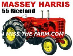 MASSEY HARRIS 55 RICELAND TEE SHIRT
