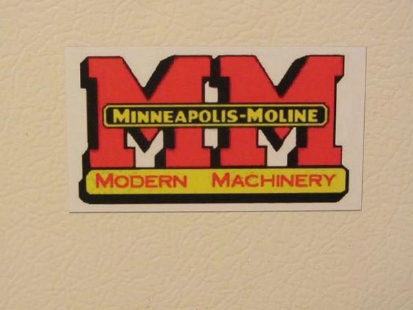 MINNEAPOLIS MOLINE LOGO Fridge/toolbox magnet