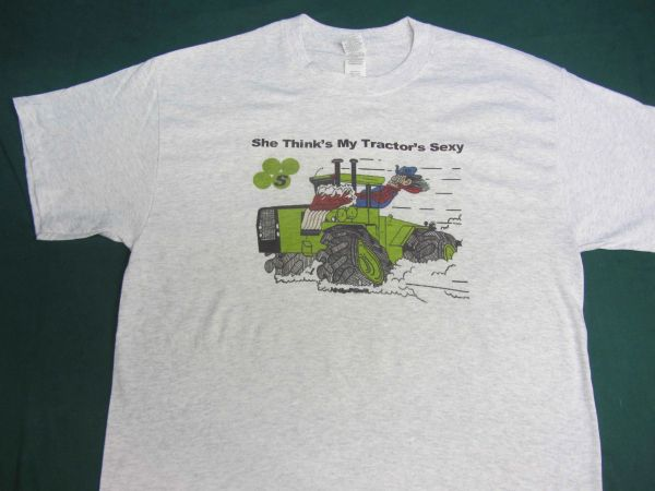 "STEIGER ""SHE THINKS MY TRACTOR'S SEXY"" TEE SHIRT"
