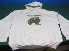 """OLIVER """"SHE THINKS MY TRACTOR'S SEXY"""" HOODED SWEATSHIRT"""