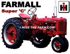FARMALL SUPER C NF KEYCHAIN