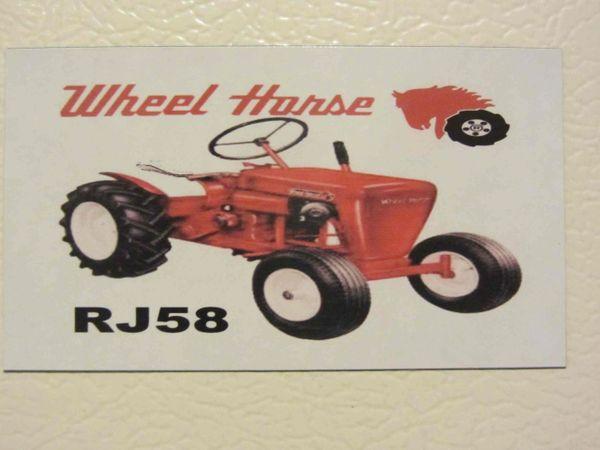 WHEEL HORSE RJ58 Fridge/toolbox magnet