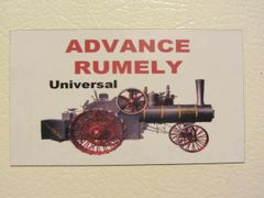 ADVANCE RUMELY Fridge/toolbox magnet