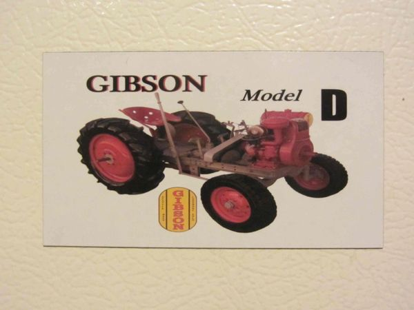 GIBSON MODEL D Fridge/toolbox magnet
