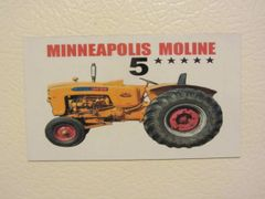 MINNEAPOLIS MOLINE 5 STAR Fridge/toolbox magnet