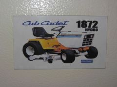 CUB CADET 1872 Fridge/toolbox magnet