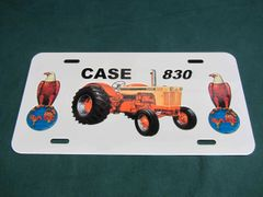 CASE 830 LICENSE PLATE