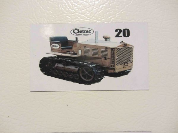 CLETRAC 20 Fridge/toolbox magnet