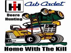 "CUB CADET DEERE HUNTING ""HOME WITH THE KILL"" HOODED SWEATSHIRT"