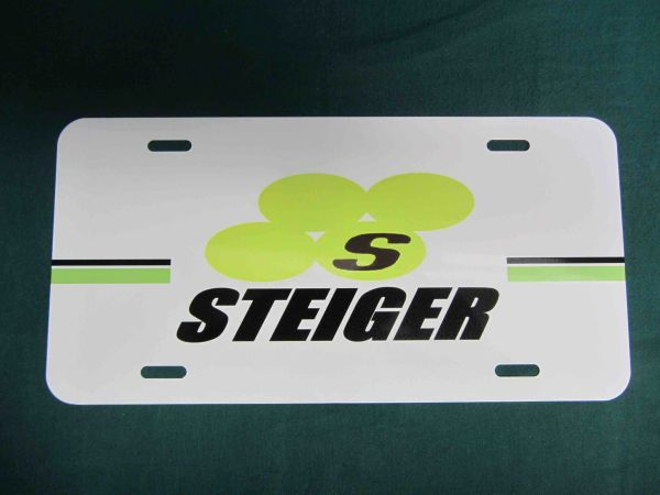 STEIGER LOGO LICENSE PLATE