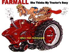 "FARMALL ""SHE THINKS MY TRACTOR""S SEXY"" COFFEE MUG"