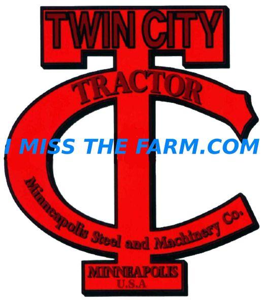 TWIN CITY TRACTORS LOGO KEYCHAIN
