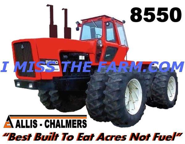 ALLIS CHALMERS 8550 (BEST BUILT TO EAT ACRES NOT FUEL) TEE SHIRT