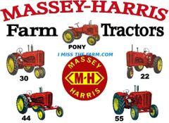 MASSEY HARRIS FARM TRACTORS HOODED SWEATSHIRT