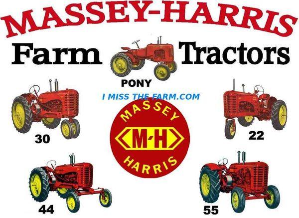 MASSEY HARRIS FARM TRACTORS HOODED SWEATSHIRT