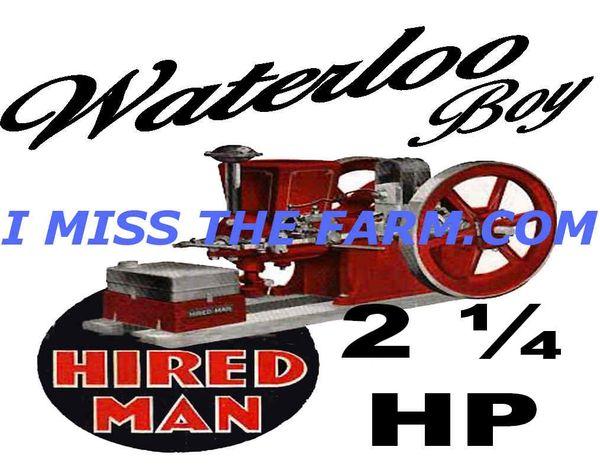 WATERLOO BOY HIRED MAN COFFEE MUG