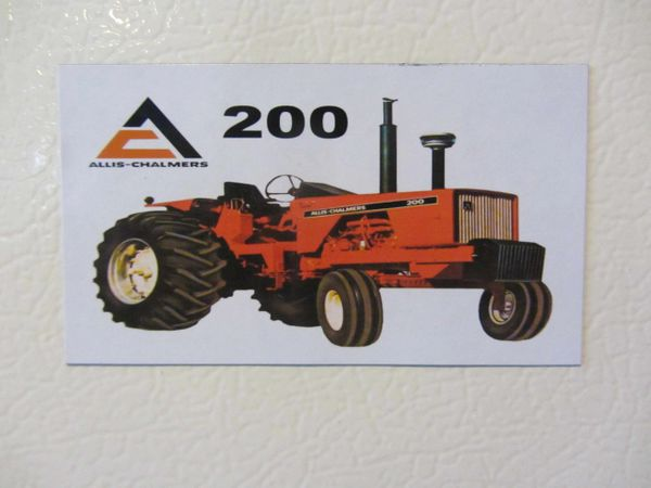 ALLIS CHALMERS 200 OPEN STATION Fridge/toolbox magnet