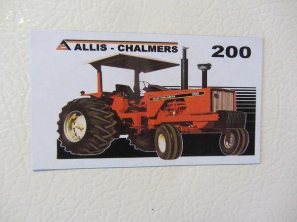 ALLIS CHALMERS 200 (2 POST) Fridge/toolbox magnet