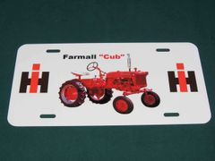 FARMALL CUB LICENSE PLATE
