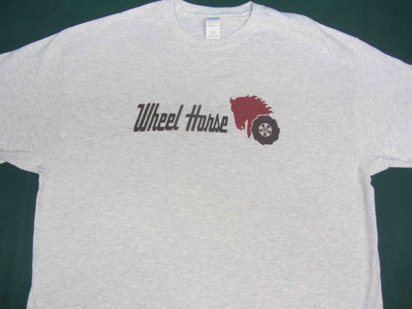 WHEEL HORSE LOGO (black text) TEE SHIRT