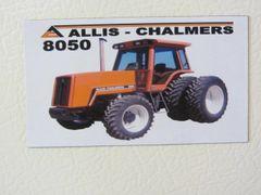 ALLIS CHALMERS 8050 (4x4) Fridge/toolbox magnet