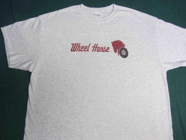 WHEEL HORSE LOGO (red text) TEE SHIRT