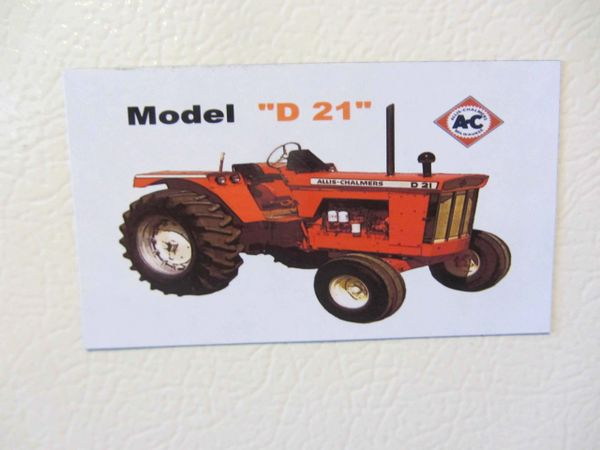 ALLIS CHALMERS D21 Fridge/toolbox magnet