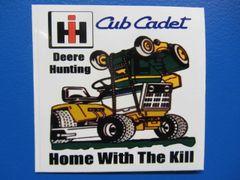 CUB CADET DEERE HUNTING Bumper sticker