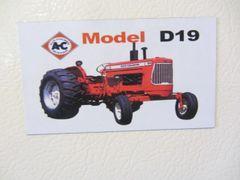 ALLIS CHALMERS D19 Fridge/toolbox magnet