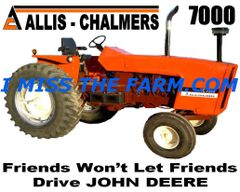 "ALLIS CHALMERS 7000 ""FRIENDS WON'T LET FRIENDS DRIVE JD""COFFEE MUG"
