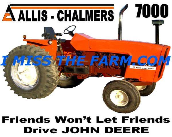 "ALLIS CHALMERS 7000 ""FRIENDS WON'T LET FRIENDS DRIVE JD""COFFEE MUG"