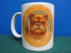 AVERY THRESHERS BULL DOG LOGO (ROUND) COFFEE MUG