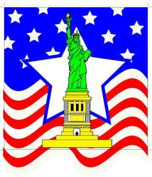 Statue of Liberty - Set of 2 Silks