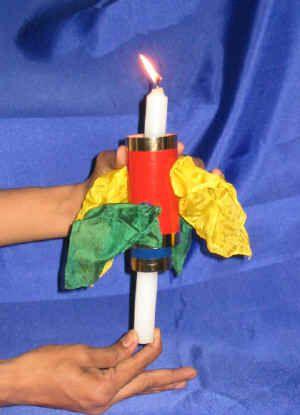 Candle Thru Silk