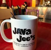 Why not enjoy your Java Joe's coffee in your very own Java Joe's mug! Get one here!