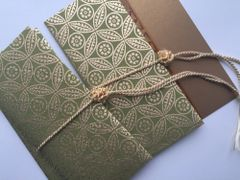 Gold Leaf Green Money Envelope - Gift Box