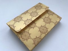 A1/ 4 Bar Envelopes - Gold metallic finish paper and Gold Rangoli Print