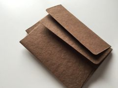 A1 4 Bar Cotton Paper Envelopes for Social and Corporate use or for Wedding Invitation - Cocoa, Chocolate or Dark Brown colored cotton envelope