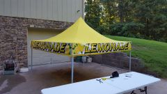 1 x 30 foot wrap around banner for easy up tents.