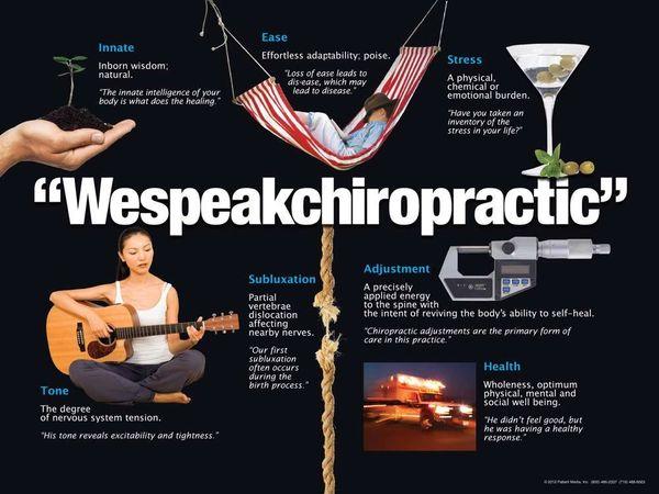 """We Speak Chiropractic Poster (18"""" x 24"""")"""
